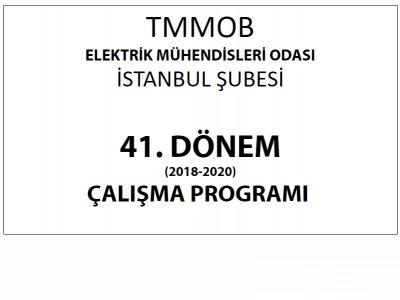 41. Dönem Çalışma Programı